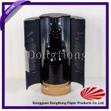 De hete Verkopende Doos van de Wijn van de Cilinder van de Douane van het Ontwerp Zwarte Ronde