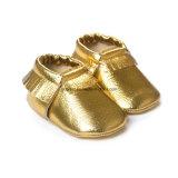 Sapatas de couro coloridas da criança do bebê do Tassel da venda enorme