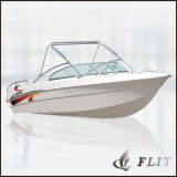 рыбацкая лодка стеклоткани кабины 24FT половинная с подвесным двигателем