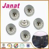 Кнопки металла вспомогательного оборудования одежды с средним отверстием