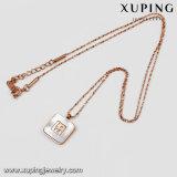 ネックレス00249の方法ローズの金によってめっきされるステンレス鋼の宝石類ロックのネックレス