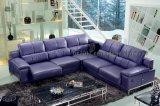 Sofà di cuoio moderno del cuoio genuino del salone del sofà (SBO-5944)