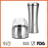 Ws-Pg019 duradero ajustable eléctrico de acero inoxidable Pepper Grinder, sal y pimienta Molino Manual