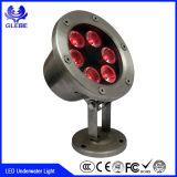 7W LED 수영풀 빛 (수지로 채워지는 100% 방수) LED 수중 빛