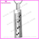 L'acciaio all'ingrosso incenerisce il supporto del Keepsake per la collana Pendant dell'urna dell'animale domestico con la zampa (IJD9137)