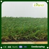 Hierba artificial multicolora barata sin la arena para ajardinar el jardín
