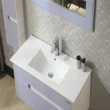 Vanité en céramique de salle de bains en bois solide de partie supérieure du comptoir