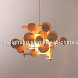 Lâmpada de madeira moderna do pendente de DIY para a decoração da sala de visitas