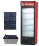 Congélateur en verre vertical d'étalage de porte de C.C 12/24V avec l'énergie solaire