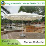 Las costillas del cuadrado 4 impermeabilizan el paraguas portable del mercado de la sombrilla del jardín