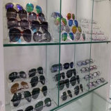 Visualización plástica de acrílico de Sunglass del estante de las lentes de los soportes de visualización de Eyewear