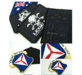 La broderie spécialisée Fer-sur le football de vêtements raccorde les insignes frais de broderie de logos de connexion de logo d'insigne