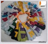 Katoenen van de Handschoen van de Koe van Ddsafety 2017 de Grijze Gespleten Blauwe Leer Versterkte Gele AchterHandschoenen van de Veiligheid