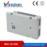 adattatore ultrasottile a una uscita di 12V 24VDC 20W LED con Ce RoHS