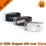 Neuer Geschenkhasp-faltendes ledernes Metall-USB-Blitz-Laufwerk (YT-5116-01)
