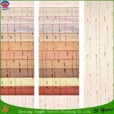 Tissu de flocage imperméable à l'eau tissé de rideau en guichet d'arrêt total de polyester