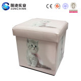 Animal Picture Printed를 가진 나무로 되는 Storage Chair