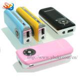 batería de la potencia del teléfono móvil 2200mAh con las linternas del LED