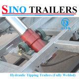 Rectángulo resistente hidráulico del acoplado de 3 toneladas que inclina