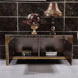 2016 현대 솔질된 로즈 황금 스테인리스 프레임 콘솔 테이블