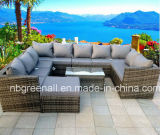 Do Rattan ajustado de vime secional do sofá do jardim mobília ao ar livre