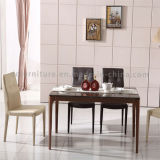 Antieke Eettafel met de Roze Gouden Bovenkant van de Kleur van het Been Kunstmatige Marmeren Bruine