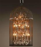 Phine dekorative Birdcage-Form-hängende Lampen-Innenbeleuchtung mit Kristall