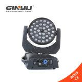 36X12W LED Summen-bewegliches Hauptlicht mit Mehrfarbenstadiums-Beleuchtung