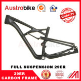 29er Frame Full Suspension MTB Frame de fibra de carbono MTB Frame 29