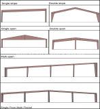 Helles Stahlkonstruktion-hochfestes vorfabriziertes Haus