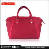 Handbag der roten PU geschwollenen Dame