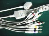 Hellige 15pin IEC Banana4.0 EKG/ECGケーブル