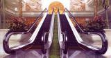 空港地下鉄の屋外の重いローディングのエスカレーターの移動歩道