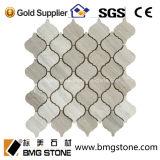 Mosaïques de marbre Shaped de grain d'approvisionnement d'usine de lanterne en bois de marbre