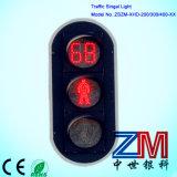 Sinal Pedestrian de piscamento luminoso elevado do diodo emissor de luz com temporizador da contagem regressiva
