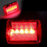 Praktisches 5 LED-rote Farben-Fahrrad-hintere Leuchte