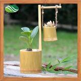 Potável vaso de flor de bambu criativo / planta de suculento