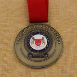Изготовленный на заказ медаль Сингапур круглой формы воинское в античном цвете