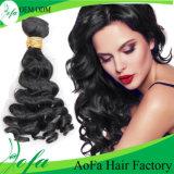 卸し売り加工されていないインドの波の毛の人間のバージンのRemyの毛