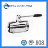 Гигиенические 304/316L санитарные клапаны, трехходовой сваренный пневматический шариковый клапан с приводом