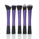 5 PCS Purple Long Aluminium Tube Slim Pretty Straist Special Handle Foundation Brush