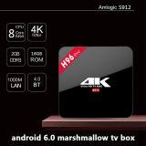 Caixa nova H96 da tevê do Android 6.0 do núcleo de Amlogic S912 Octa PRO