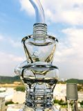 14inch 40diameter 5thickness Dual Birdcage Percolator Glass Smoking Water Pipe mit Factory Price