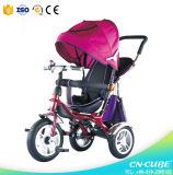 Trike de múltiples funciones para el cabrito/3 en 1 triciclo del cochecito de niño del bebé del cochecito/cochecito de Tricyle del bebé con la barra del empuje