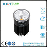 LED de alta potencia de 12W IP40 MR16 del punto de luz regulable