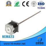 Motor de pasos híbrido linear NEMA23 con el tornillo de posicionamiento
