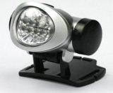 Mini torcia elettrica del faro di formato 8 LED che funziona facendo un'escursione la lampada di protezione resistente di campeggio dell'indicatore luminoso della testa del faro dell'acqua di miglioramento domestico Ipx6