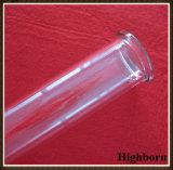 Câmara de ar de vidro desobstruída de quartzo do silicone de Customzied com flange
