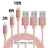 Lightning 8pin USB Data Sync Charger Cable Cord pour iPhone