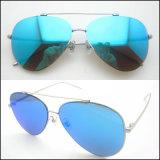 2017 neues Form-Metallrostfreie Sonnenbrillen mit polarisiertem Spiegel-Objektiv